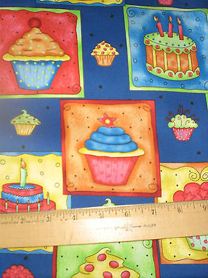 Celebrate -- Birthday Cakes and Cupcakes allover Royal Blue--So Cute!!! (Royal Blue Cupcakes)