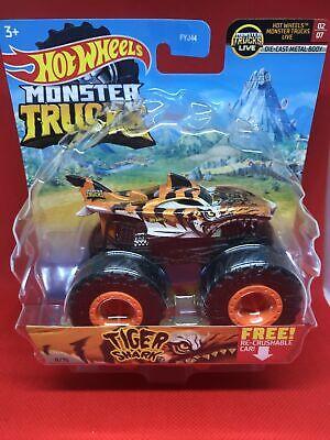 2021 Hot Wheels Monster Trucks - Tiger Shark- 11/75 - Monster Trucks Live - With