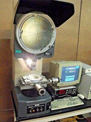 Nikon V-12 Optical Comparator Profile Projector Metrology Inspection Tool Qc Lab