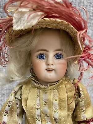 """Antique Bebe Lux Body 10"""" Bisque Head Doll Heinrich Handwerck """"79-3X"""""""