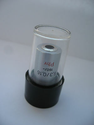 Carl Zeiss Phase Contrast Microscope Objective 6.3x0.16 160- Phv Mikroskop