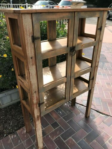 Handcrafted Rustic/Primitive Display-Bookcase Cabinet