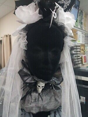 HALLOWEEN Corpse Bride, Day of the Dead WEDDING VEIL W/ ROSES Costume Accessory
