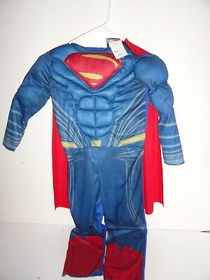 TODDLER'S SUPERMAN DRESS UP/HALLOWEEN COSTUME WITH CAPE-SIZE 3/4T