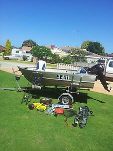 DINGY. CAR TOPPER 3 MTR + LITTLE BULLDOG FOLDING TRAILER Cooloongup Rockingham Area Preview