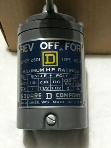 vintage Square D Reversing Drum Switch class 2601 type AG-2 steel switch. NOS