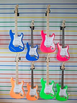 Electric Guitar Strat Tele Bass Style Neon Series Full Size ¾ Kids Size mini 34