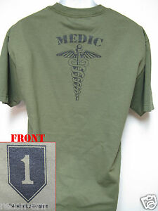 IST-ID-T-SHIRT-1ST-INFANTRY-DIVISION-MEDIC-COMBAT-ARMY-MILITARY-NEW