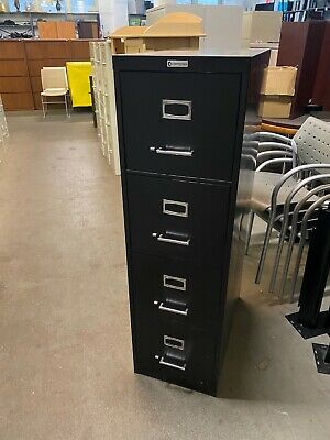 4 Drawer Letter Size File Cabinet In Black Color 52h