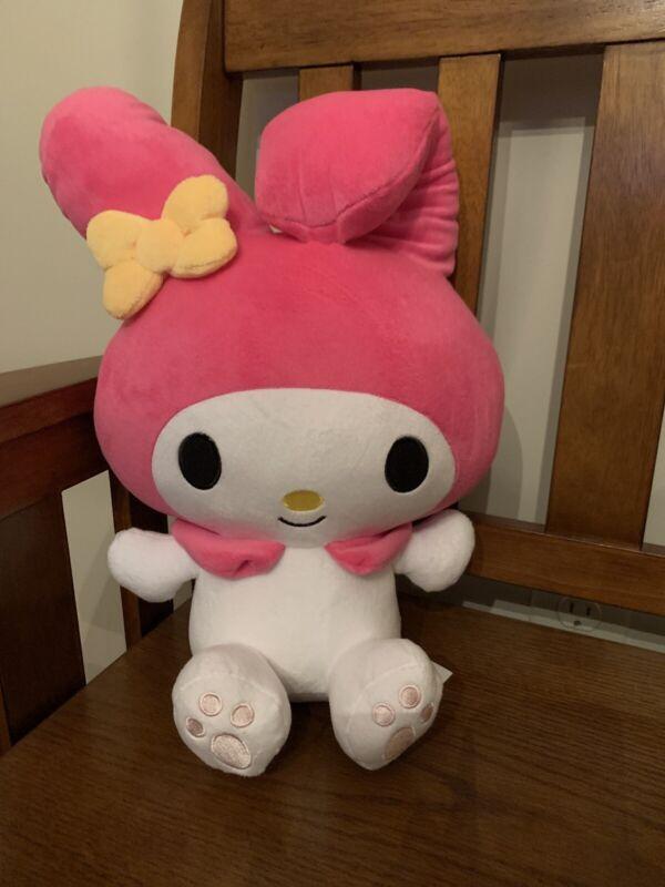 "Sanrio My Melody Pink Bunny Plush 13"" Round 1"