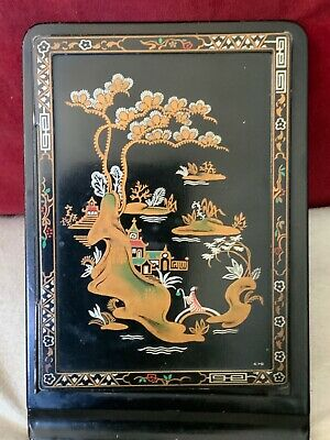 Aesthetic Style English Chinoiserie Decoratied Metal Notebook Holder Early 20th