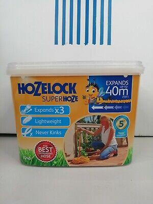 Hozelock 40m Super Hoze Hosepipe, Yellow & Grey