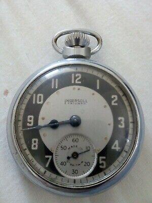 Vintage Ingersoll Triumph Metal Cases Pocket Watch ( Spares Or Repair)