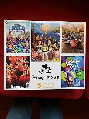 New Ceaco Disney Pixar 5-in-1 Puzzles Toy Story Cars Inside Out Incredibles etc.