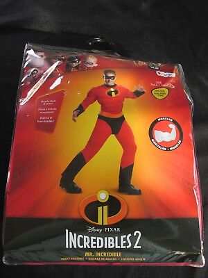 Mr. Incredible ~Incredibles 2 Adult Costume Size XXL 50-52 Muscled New Halloween - Mr Incredible Costume Xxl