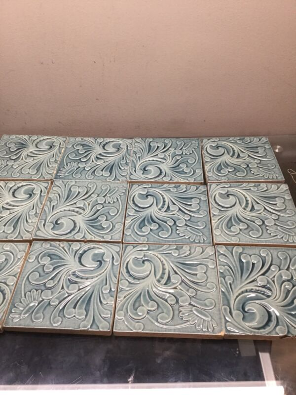 12 Hamilton Antique Decorated Tile Victorian (Can Sell Separate)