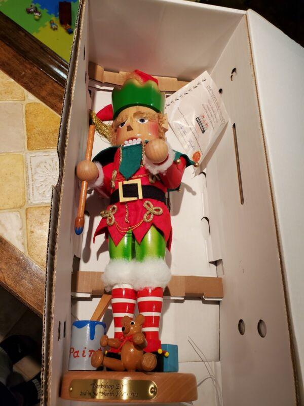"""19"""" Steinbach Wooden German Nutcracker North Pole Elf Limited Ed Read Descriptio"""