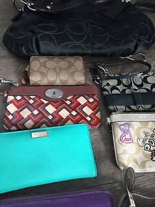Assorted Fossil, Coach, Kate Spade and Leather Wallets/Purses