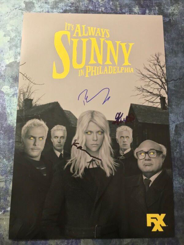 Dennis Mac Dee * IT'S ALWAYS SUNNY IN PHILADELPHIA * Signed 12x18 Photo AD4 COA