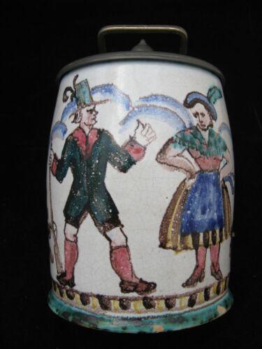 Antique Faience Lidded 18th Century Beer Stein German?