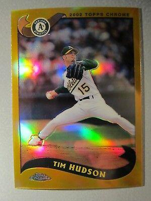 04412f22cb *Rare* 2002 Topps Chrome GOLD Refractors #590 Tim Hudson