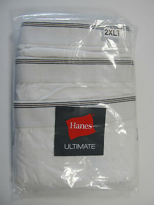 Hanes Ultimate Big and Tall Men's Underwear White Cotton BOXER BRIEFS 3-Pack NIP - Big And Tall Boxer Briefs