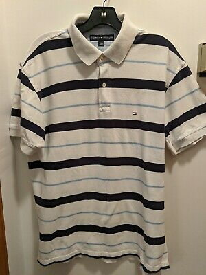 Tommy Hilfiger Large Men's Striped Polo Shirt