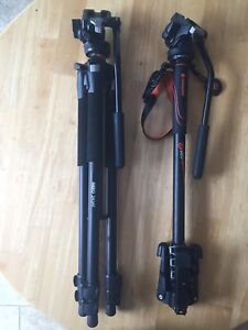 Vanguard video monopod and tripod with fluid head