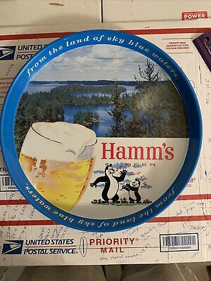 """Vintage Hamm's Beer Metal Tray  """"From The Land Of Blue Waters"""" Vintage. RARE"""