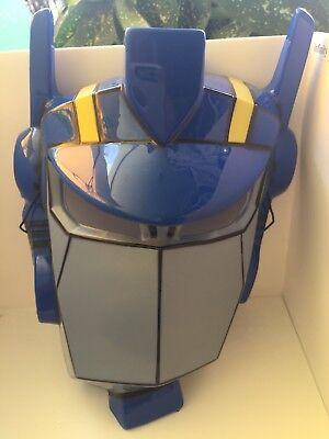 Plastic Superhero Masks (Super Hero Costume Mask Halloween Blue Gray Dress Up)