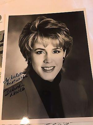 DEBORAH NORVILLE CBS Network Photo Autograph & Letter 1994