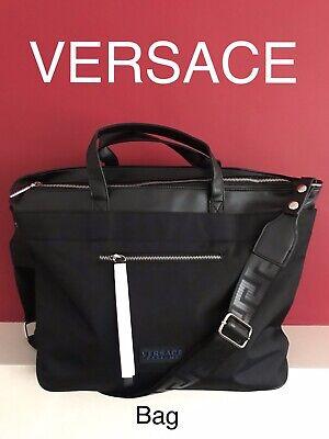 VERSACE Black Travel Weekend Bag Gym CABIN Bag Men's BRAND NEW SEALED