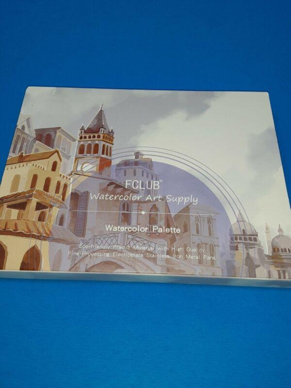 FCLUB Empty Magnetic Watercolor Palette Folding Paint Case