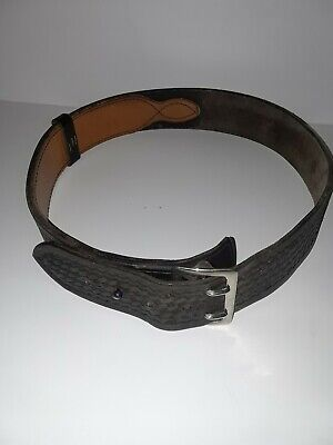 Tex Shoemaker Sons Black Leather Law Enforment Duty Belt Size 34