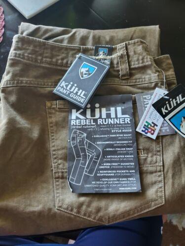 KUHL Rebel Series Hiking Pants 40 X 32 Distressed Patina Dye