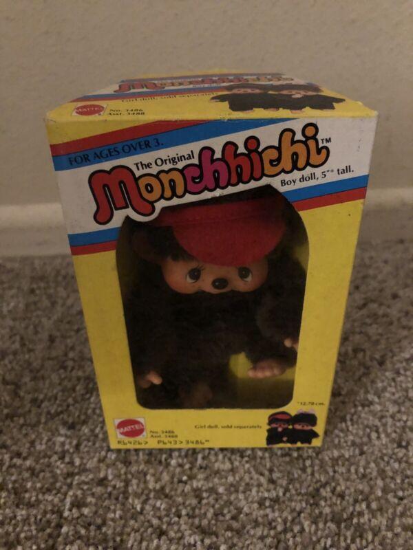 Vintage Monchichi Sekiguchi 1974 Little Monkey Collectible Boxed Mattel