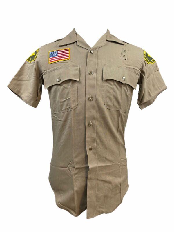Vtg San Bernardino California Sheriff Service Uniform Shirt Sz 15.5 Khaki LEO