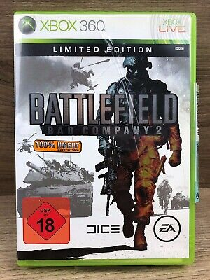 FSK18 • Xbox 360 Spiel • Battlefield Bad Company 2 • Limited Edition • Gut #M39