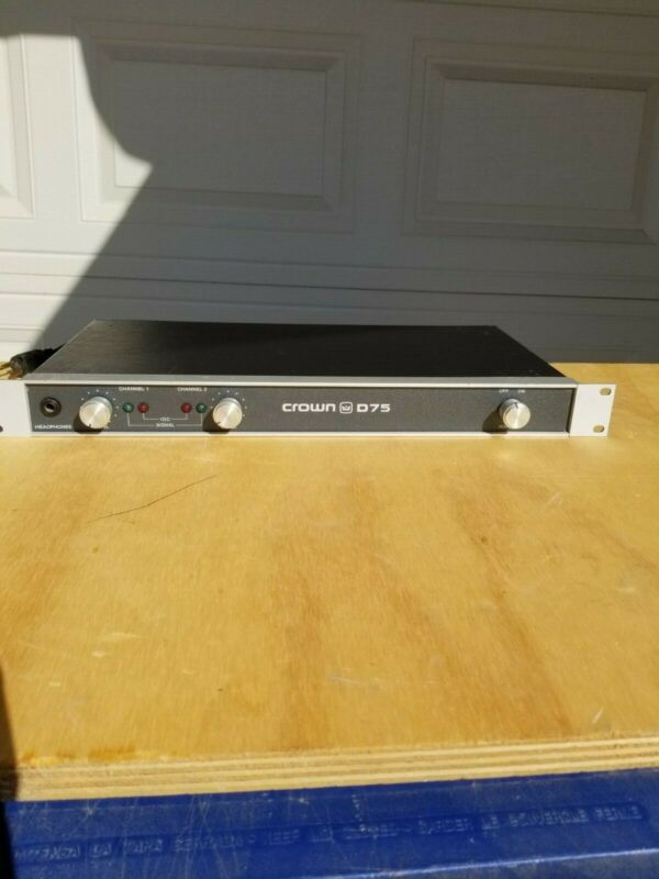 Crown D75 Amplifier 2 Channel Amplifier