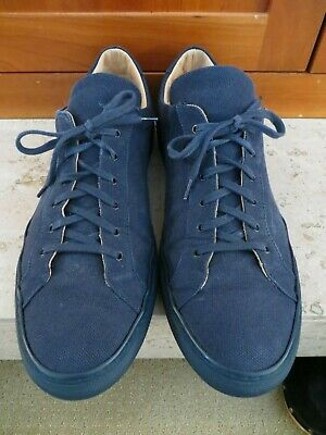 Common Projects Navy Blue Canvas 44 US 11 11.5 Achilles Low Sneakers ITALY