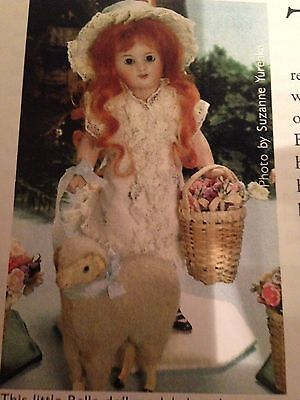 """All Bisque ANTIQUE French Mignonette 7.5"""" Doll dress pattern"""