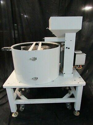 Feeder Dynamics 18 Vibratory Feeder Bowl With Dorner Conveyor