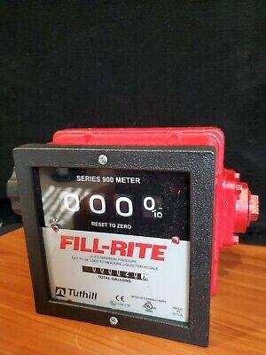 Fill-rite 4-wheel Register Heavy Duty Mechanical Flow Meter 901c - Used