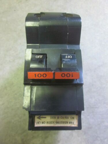 100 Amp Federal Pacific Stab Lok 100 A FPE Double / 2 Pole Plug In MAIN Breaker