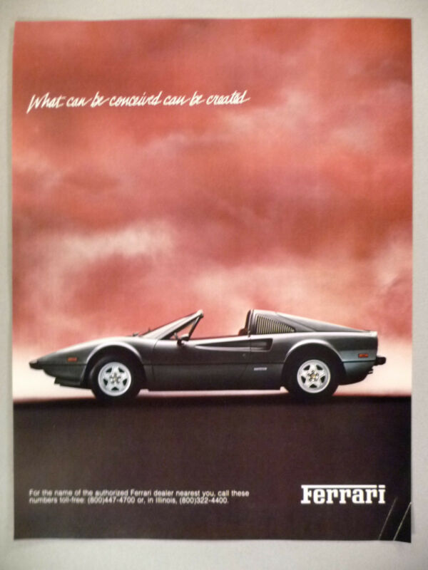 Ferrari PRINT AD ~~ 1980