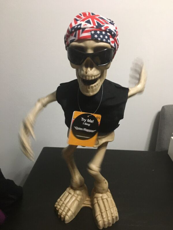 Animated Halloween Grim Rapper Sings and Dances NEW