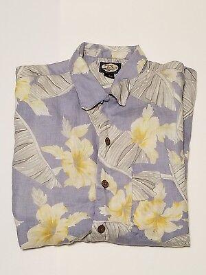 (Tommy Bahama Hibiscus Hawaiian Casual Camp Button Down Short Sleeve Shirt Small)