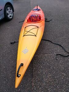 Sit in kayak with paddle