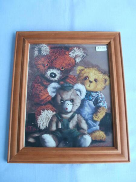 3 BEARS WITH MOUSE IN FRAME | Picture Frames | Gumtree Australia ...