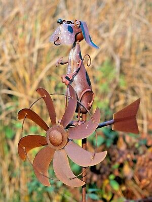 Dog Wind Sculpture WINDSPINNER Animal03- Jonart Designs